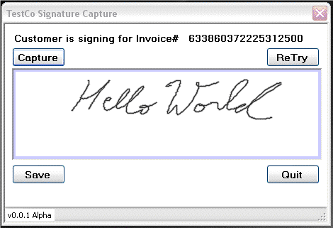 Simple UI for capturing signature
