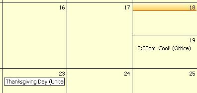 Outlook calendar shows new appointment